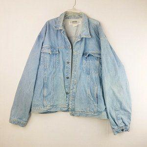Vintage Today's News Blue Denim Lined Jean Jacket